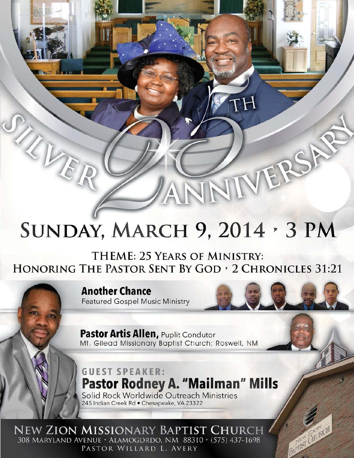 25th Pastoral Appreciation for Pastor Willard & First Lady ...