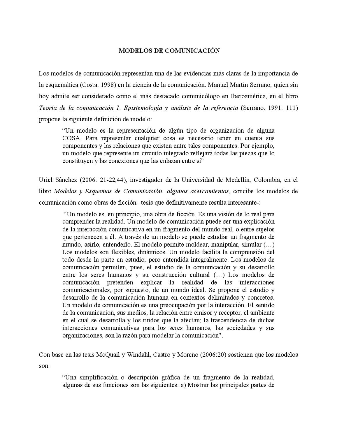 Modelos comunicacion by TheGabean - issuu