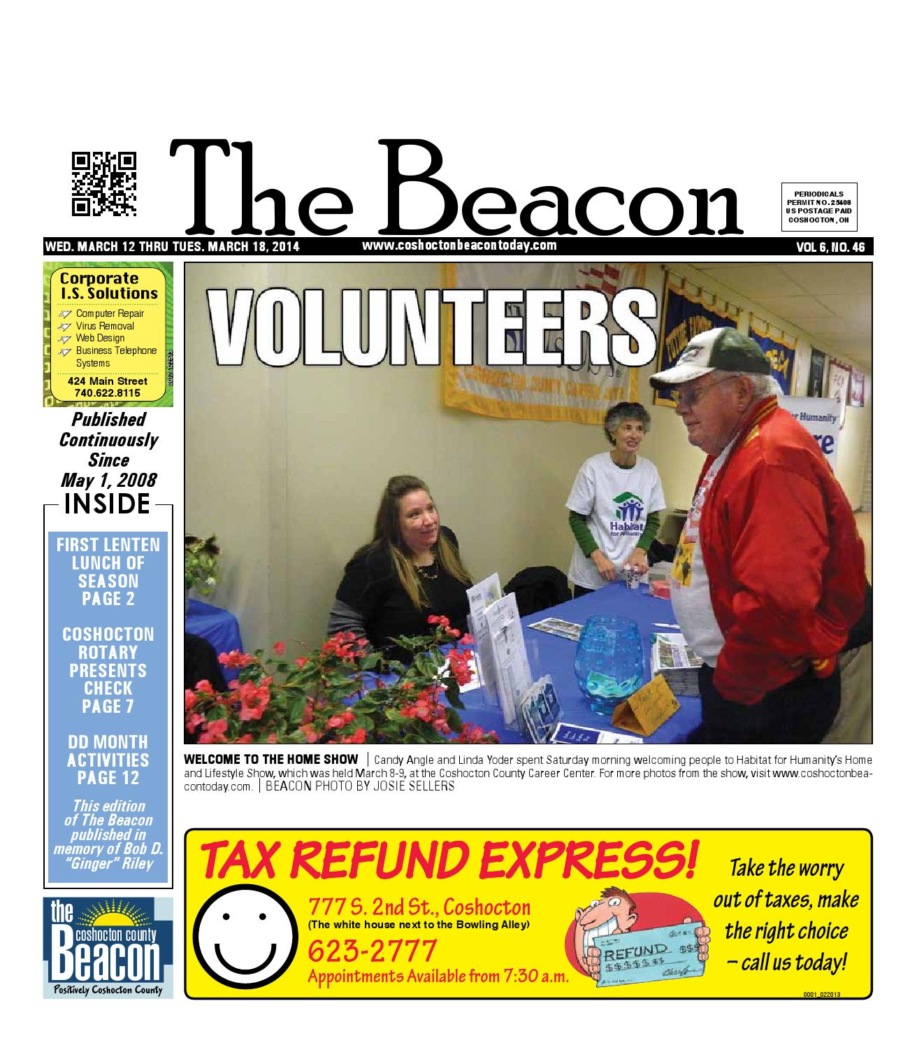 March 12 2014 Coshocton County Beacon By The