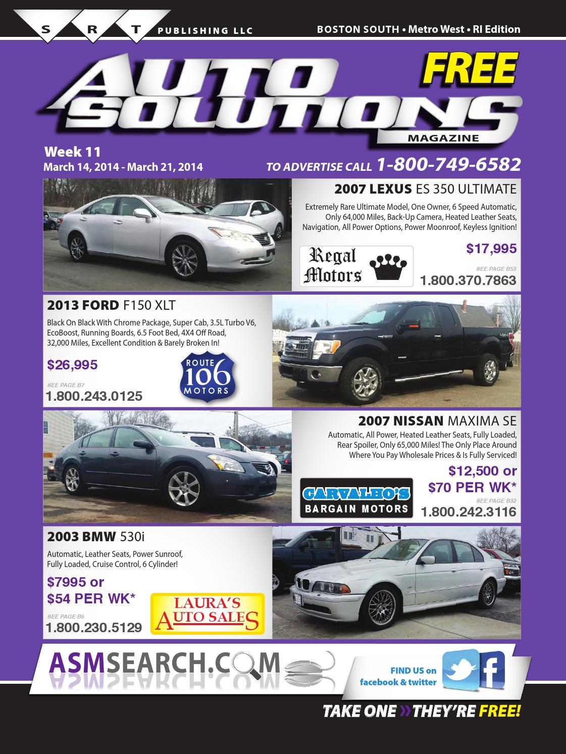 Week 11 south book by auto solutions magazine issuu for Carvalho s bargain motors