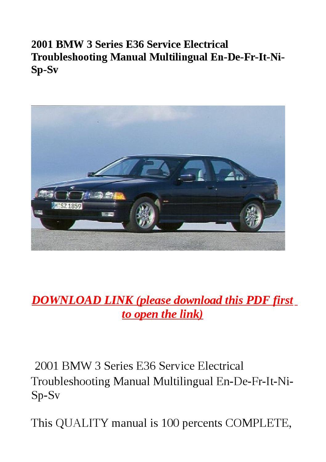 bmw e36 service manual pdf