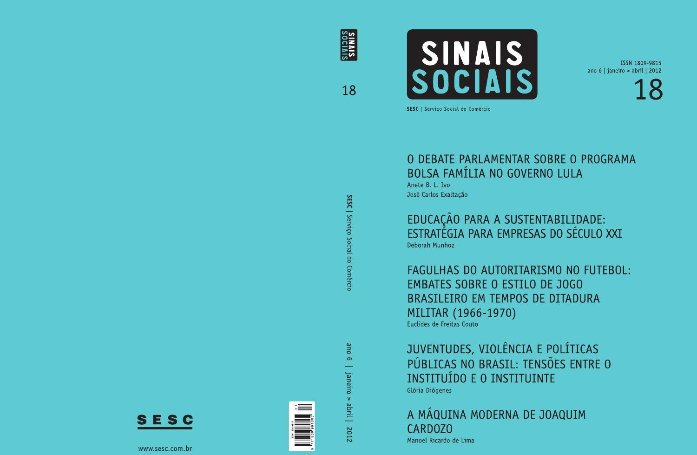 Revista Sinais Sociais by SescBrasil - issuu 4c219fd1c52