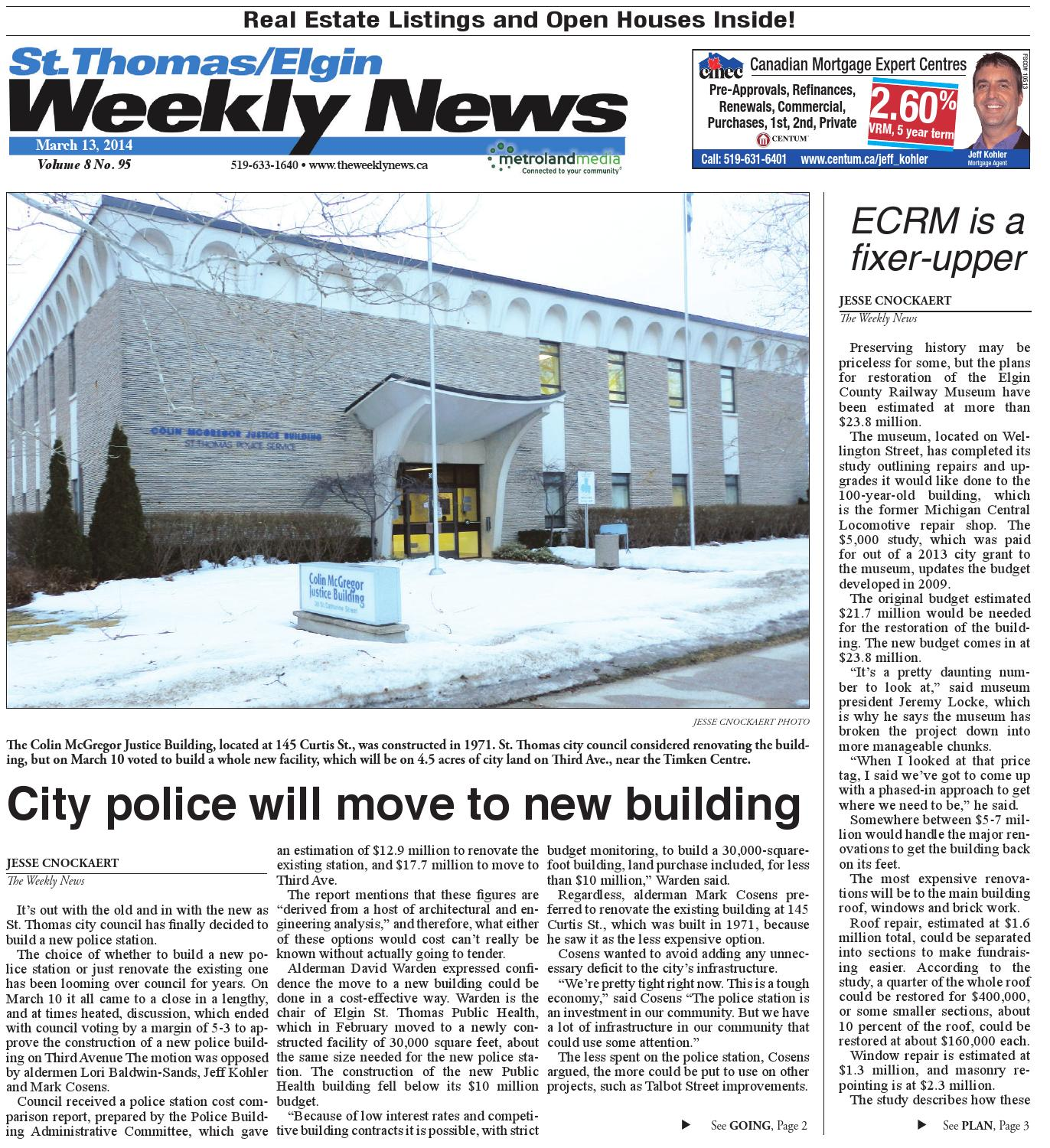March 13, 2014 by St.Thomas/Elgin Weekly News - issuu