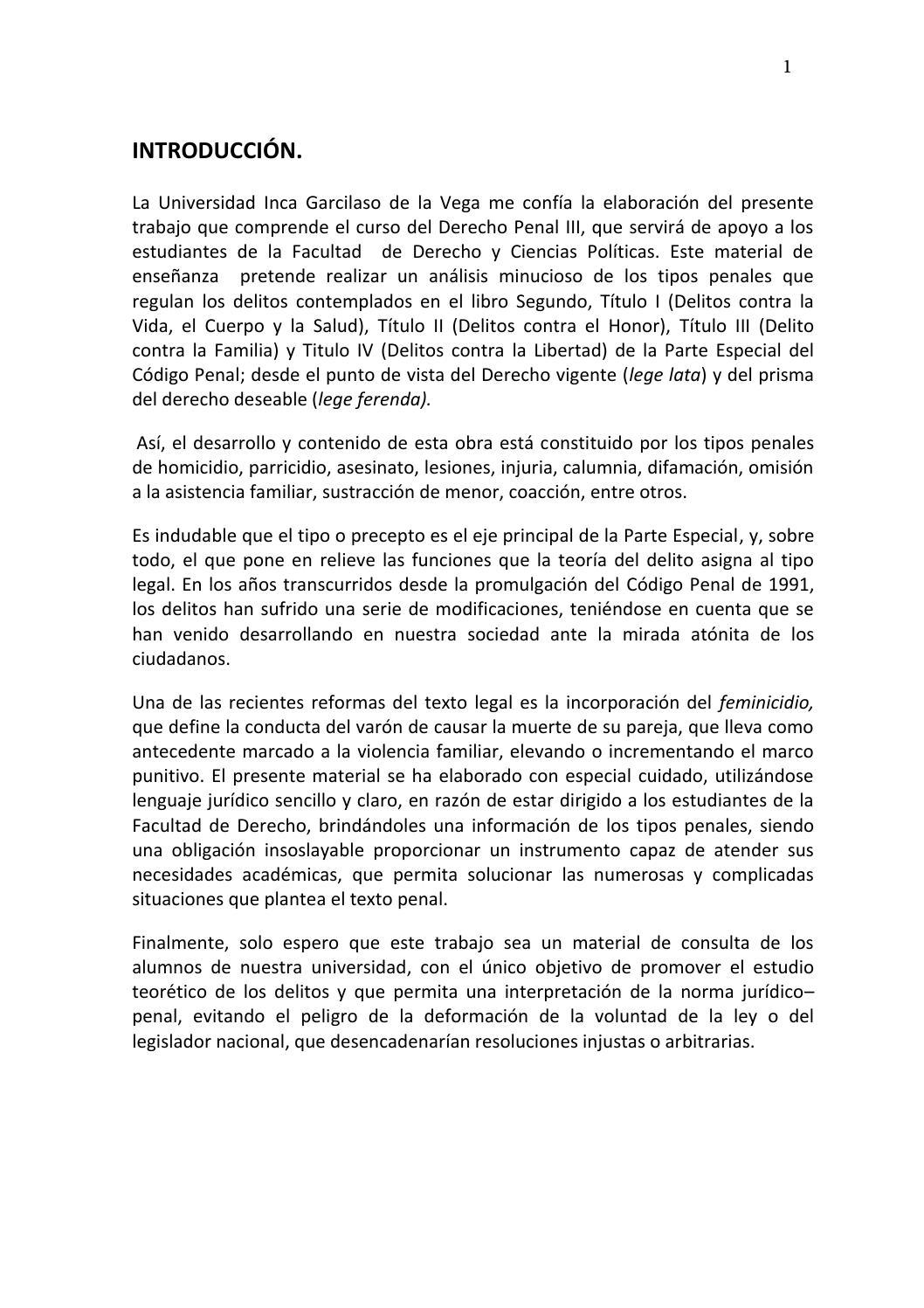 Introducción derecho penal pedro zumaeta by Plataforma Derecho - issuu