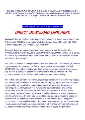 ski doo formula 500 lc 2000 pdf