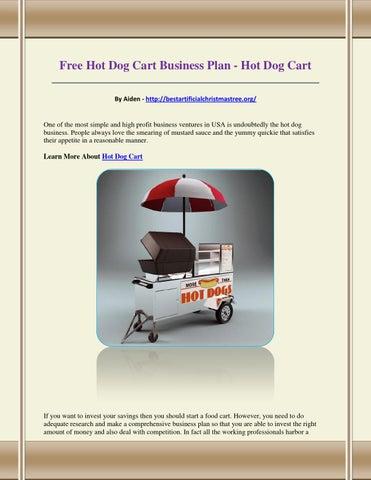 hot dog business plan pdf