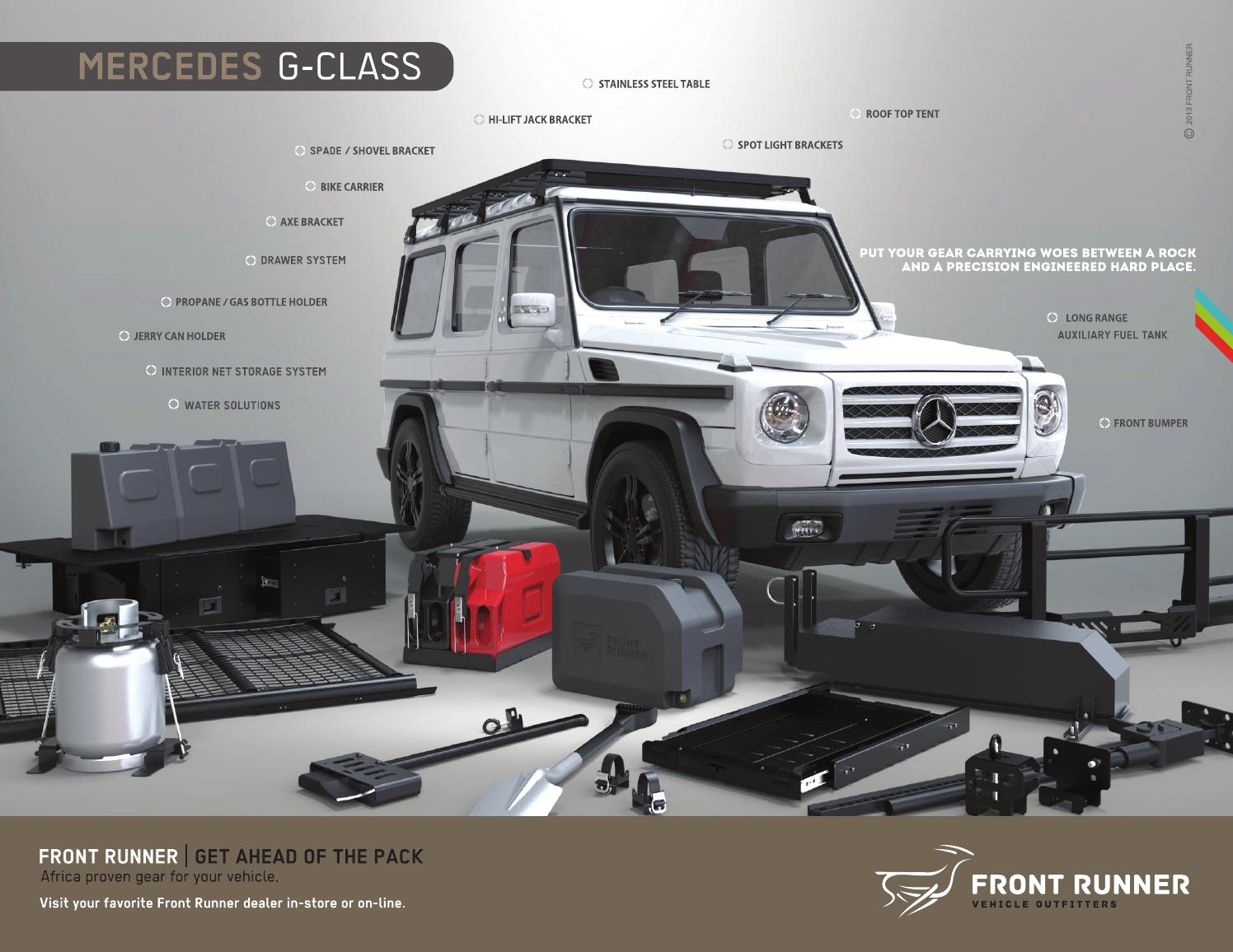 Front Runner USA Mercedes G Wagen / Wagon Brochure by Front