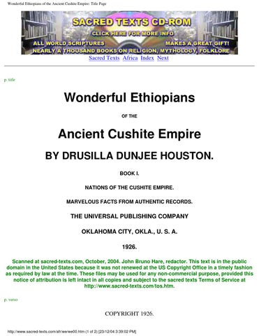 Wonderful ethiopians ebook by brian mcgee issuu wonderful ethiopians of the ancient cushite empire title page fandeluxe Image collections