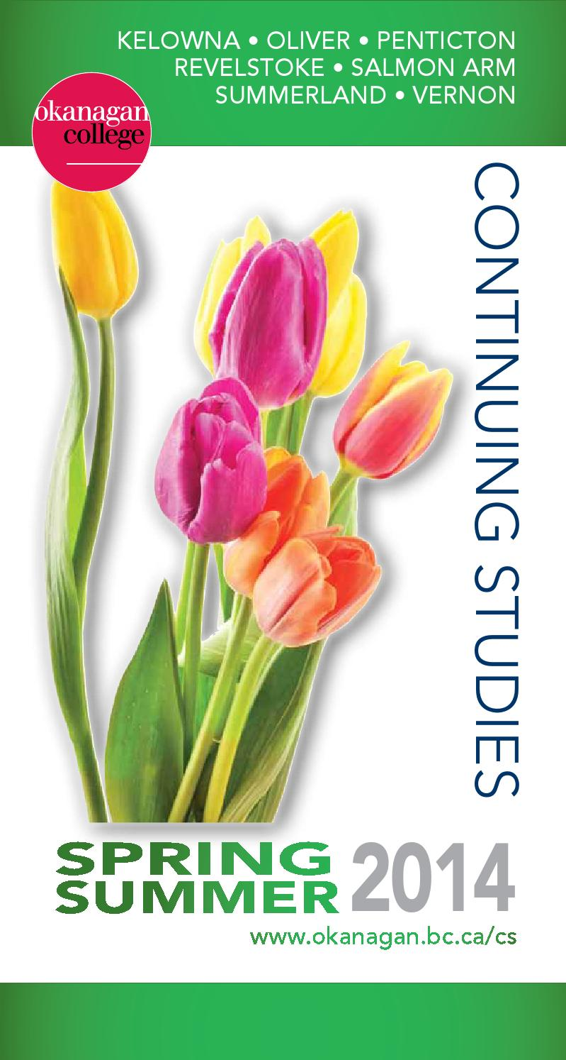 Okanagan College Continuing Studies brochure Spring 2014 by