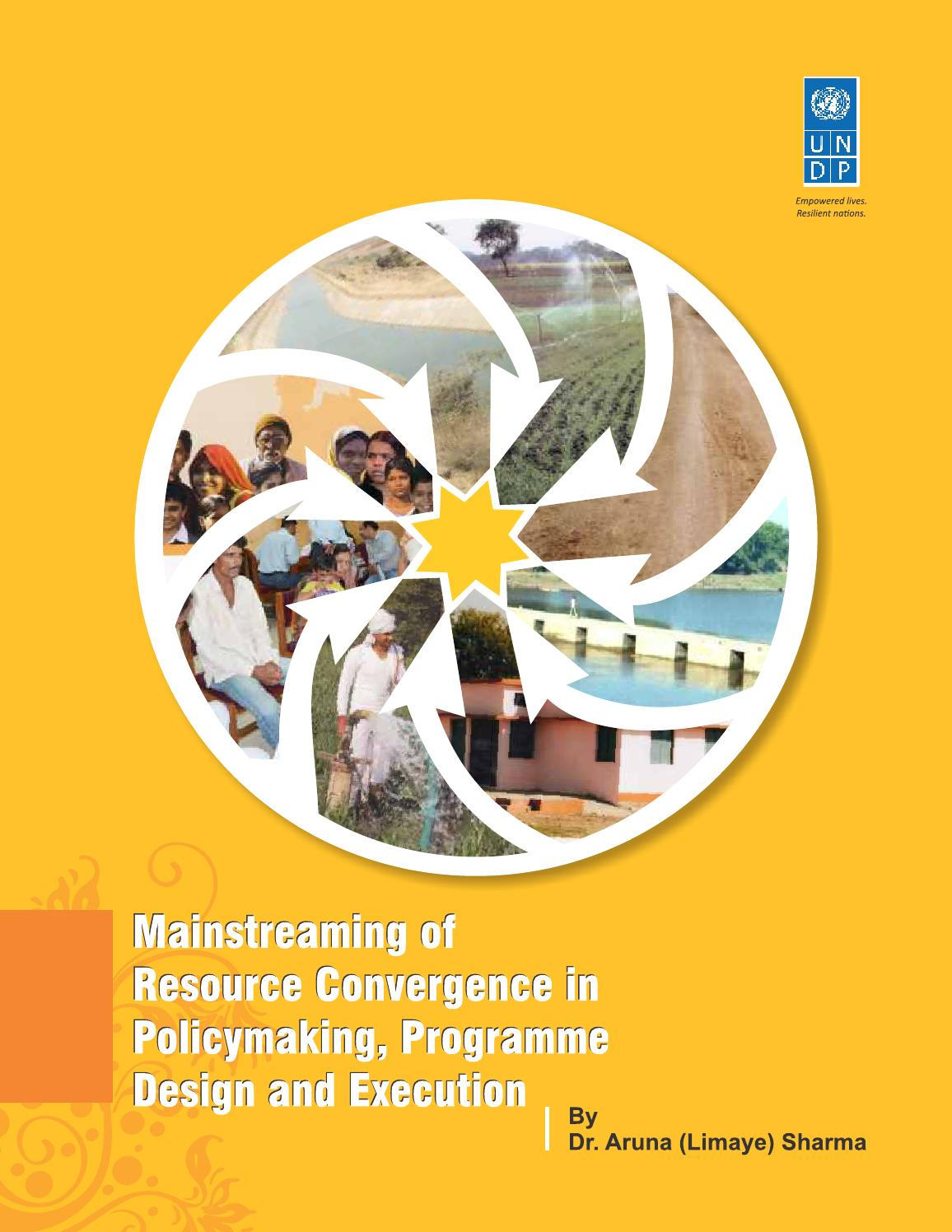 Mainstreaming of resource convergence in policy making