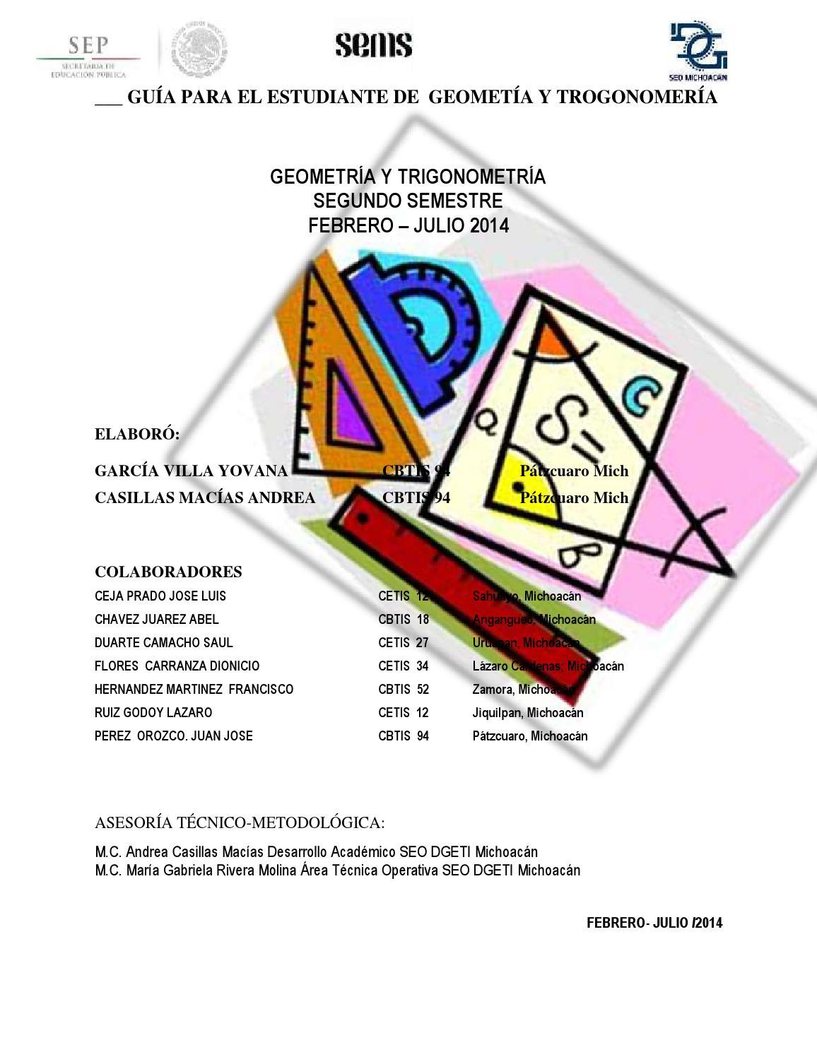 Guía de Geometría y Trigonometría by DGETI Michoacán - Issuu - photo#42