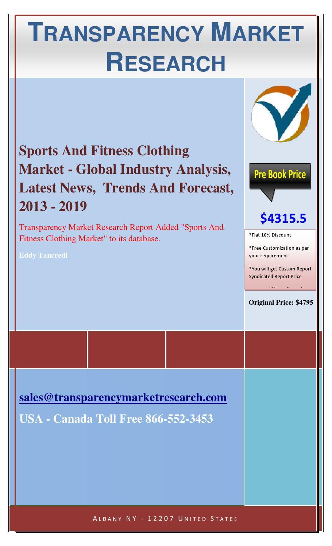 Fitness market analysis