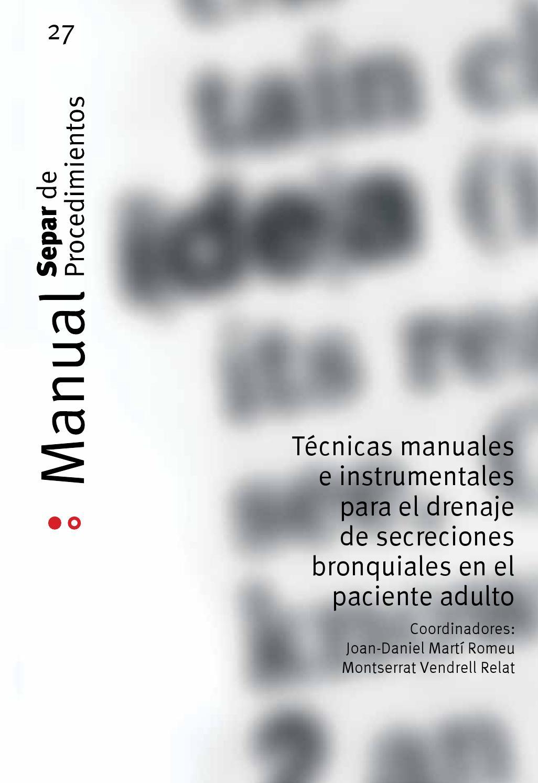 Manual SEPAR de Procedimientos 27. Técnicas manuales e ...