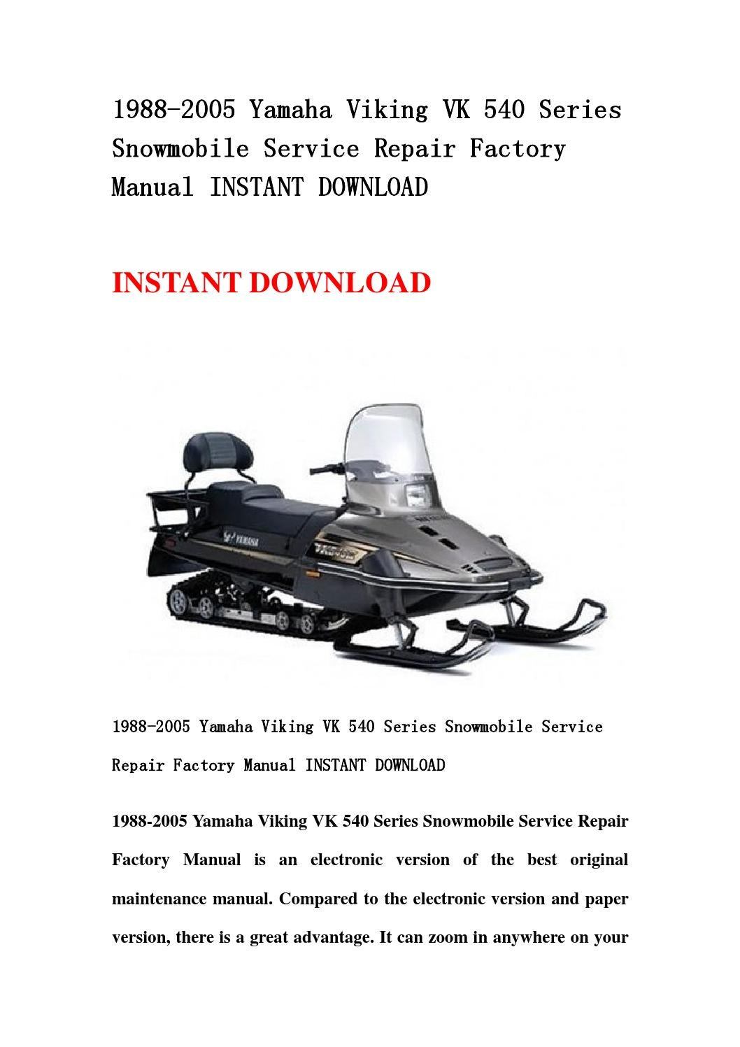 2019 Yamaha VK540 For Sale in Ronan, MT - Snowmobile Trader