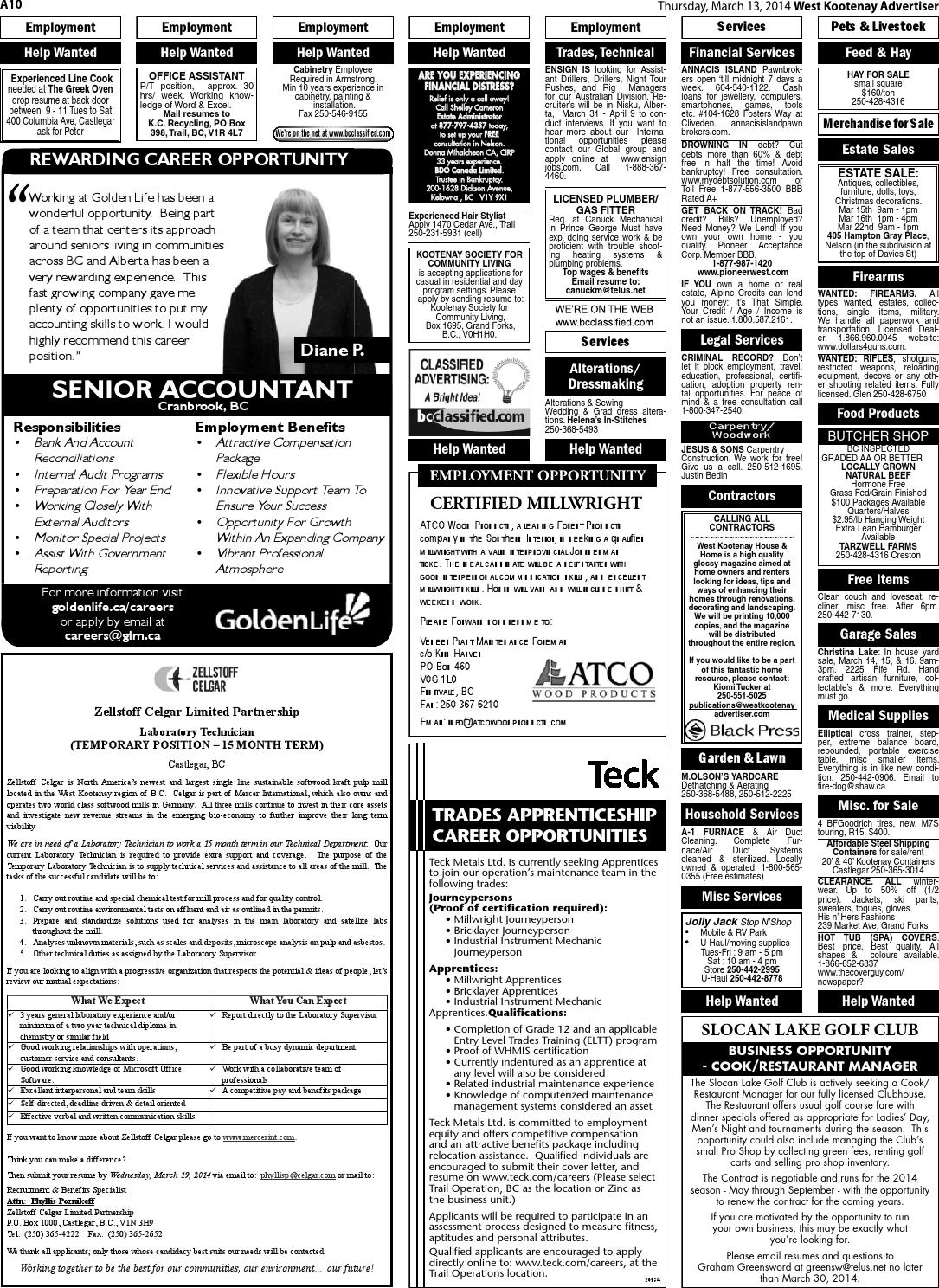 west kootenay advertiser, march 13, 2014 by black press - issuu