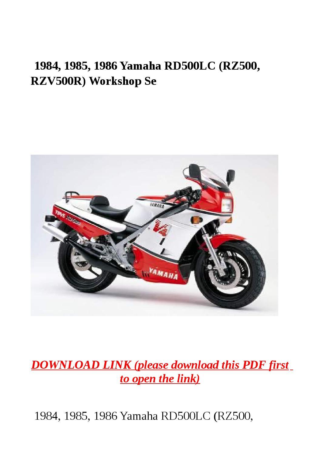 1984, 1985, 1986 yamaha rd500lc (rz500, rzv500r) workshop se by yghj - issuu