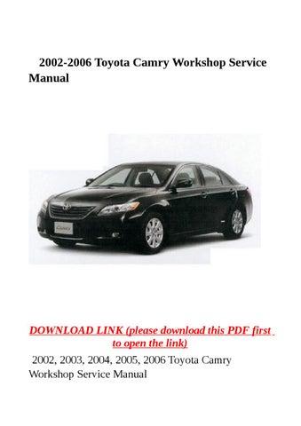 2004 camry service manual pdf