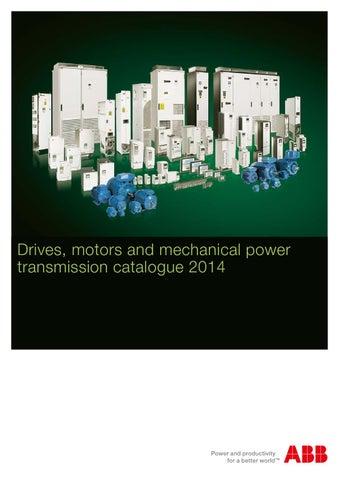 abb drives motors company brochure 2014 by process industry