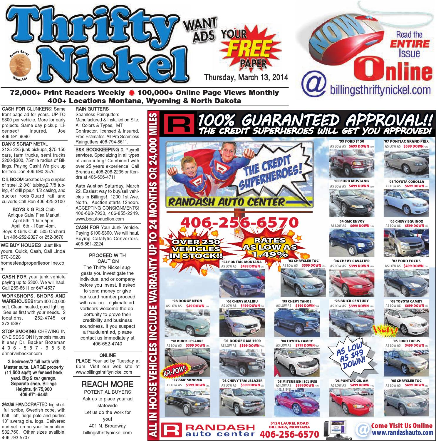 Thrifty Nickel Mar 13 By Billings Gazette Issuu 2003 Gmc Envoy Parts Diagram Engine Car And Component