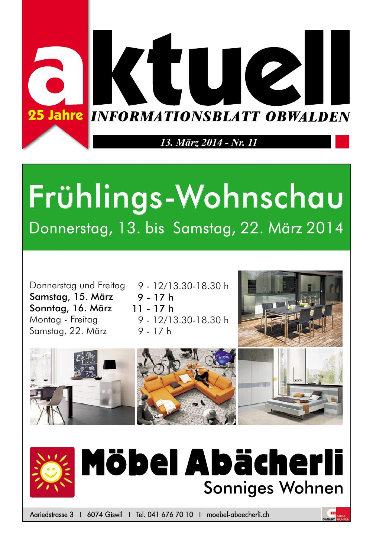 Aktuell Obwalden Nr. 11 2014 by Aktuell Obwalden AG issuu