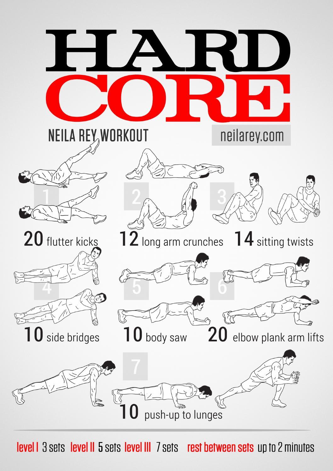 Hardcore workout stock photo