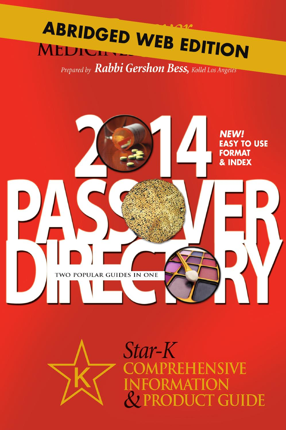Star K Passover Directory 2014 By Star K Kosher Issuu