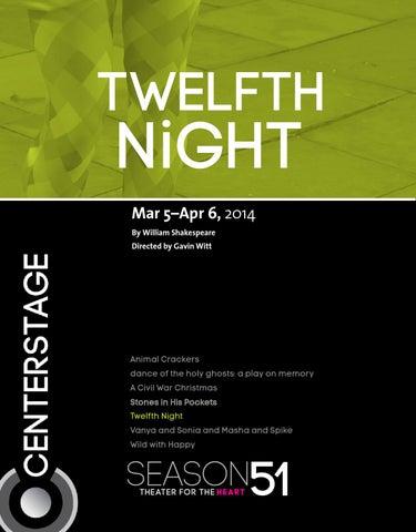 Twelfth Night Program By Baltimore Center Stage Issuu