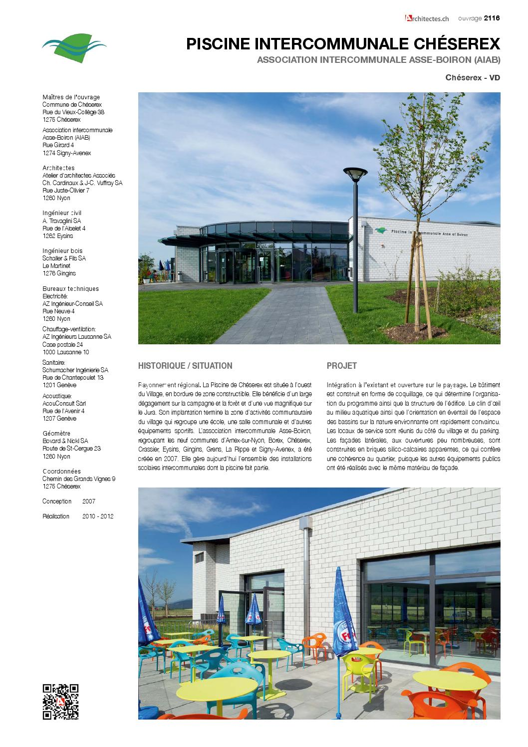 Architecture construction tome 24 communes by for Piscine cheserex