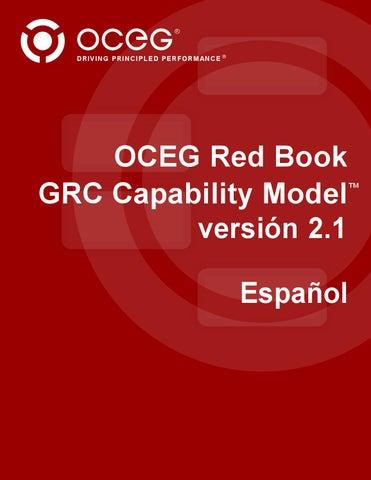 OCEG Red book GRC Capability Model (Spanish) by Orlando Pineda ...