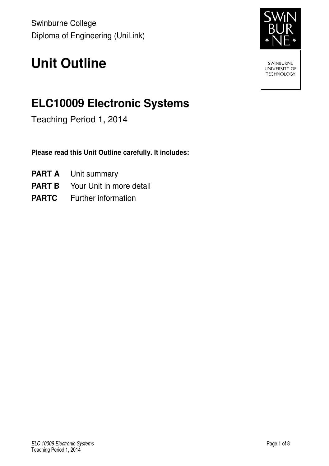 Elc10009 Electronic Systems Tp1 Feb 2014 By Carol Aeschliman Issuu Rlc Series Circuit Details