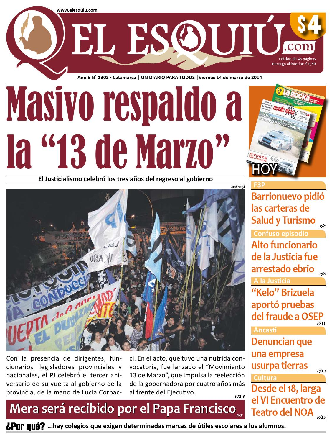 El Esquiu Com Viernes 14 De Marzo De 2014 By Editorial El Esqui  # Muebles Yoma Antofagasta