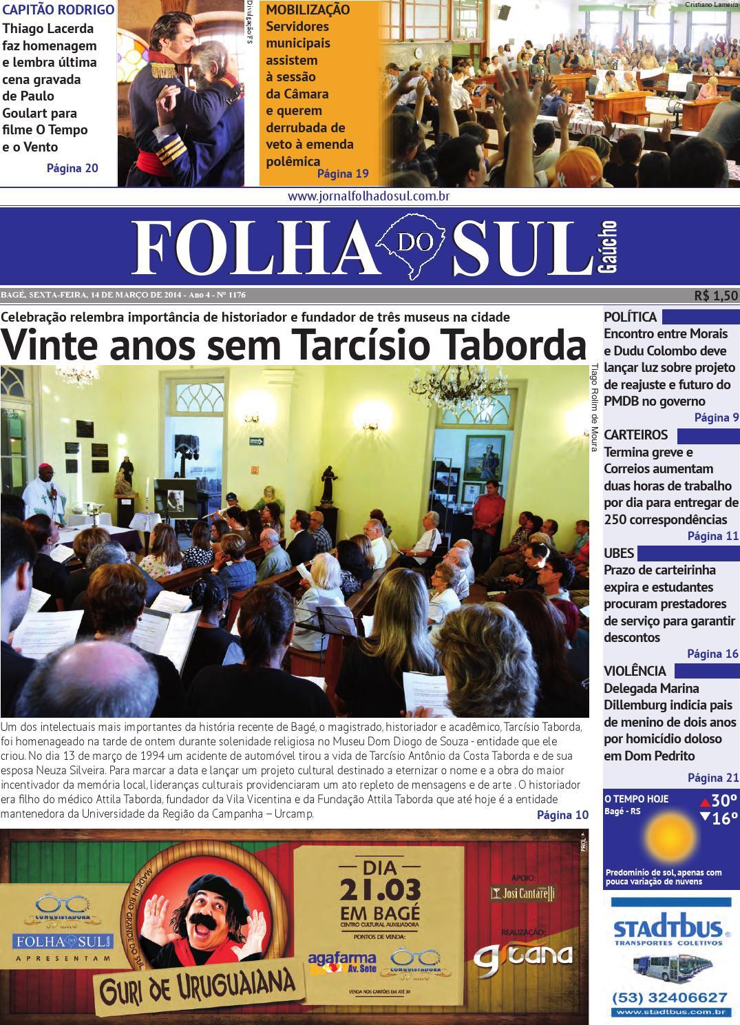 5c23a2df648 Folha do Sul Gaúcho Ed. 1177 (14 03 2014) by Folha do Sul Gaúcho - issuu