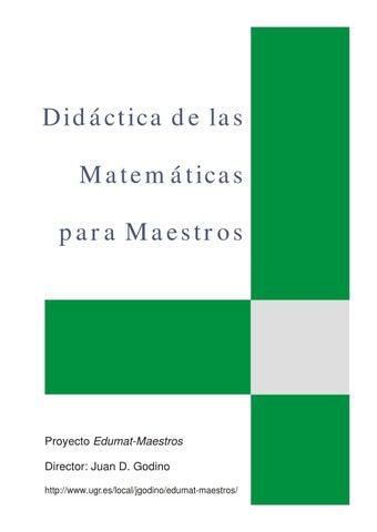Didactica de las matematicas para maestros by William Oscar Buendía ...