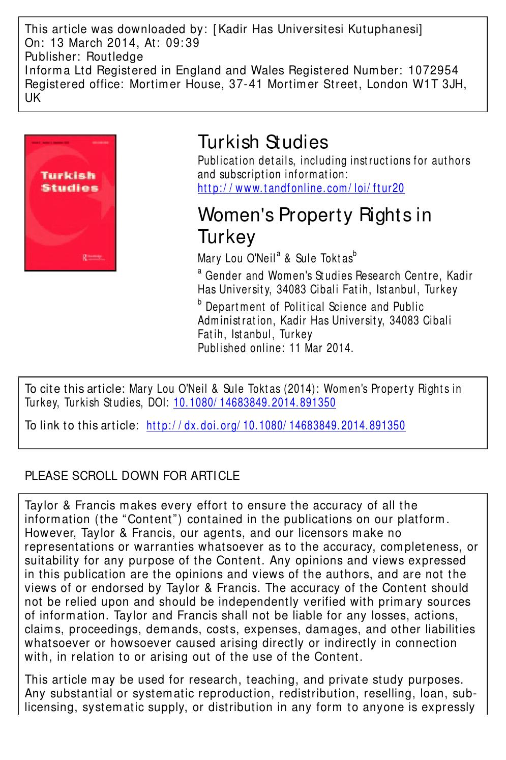Interests of Turkish wives