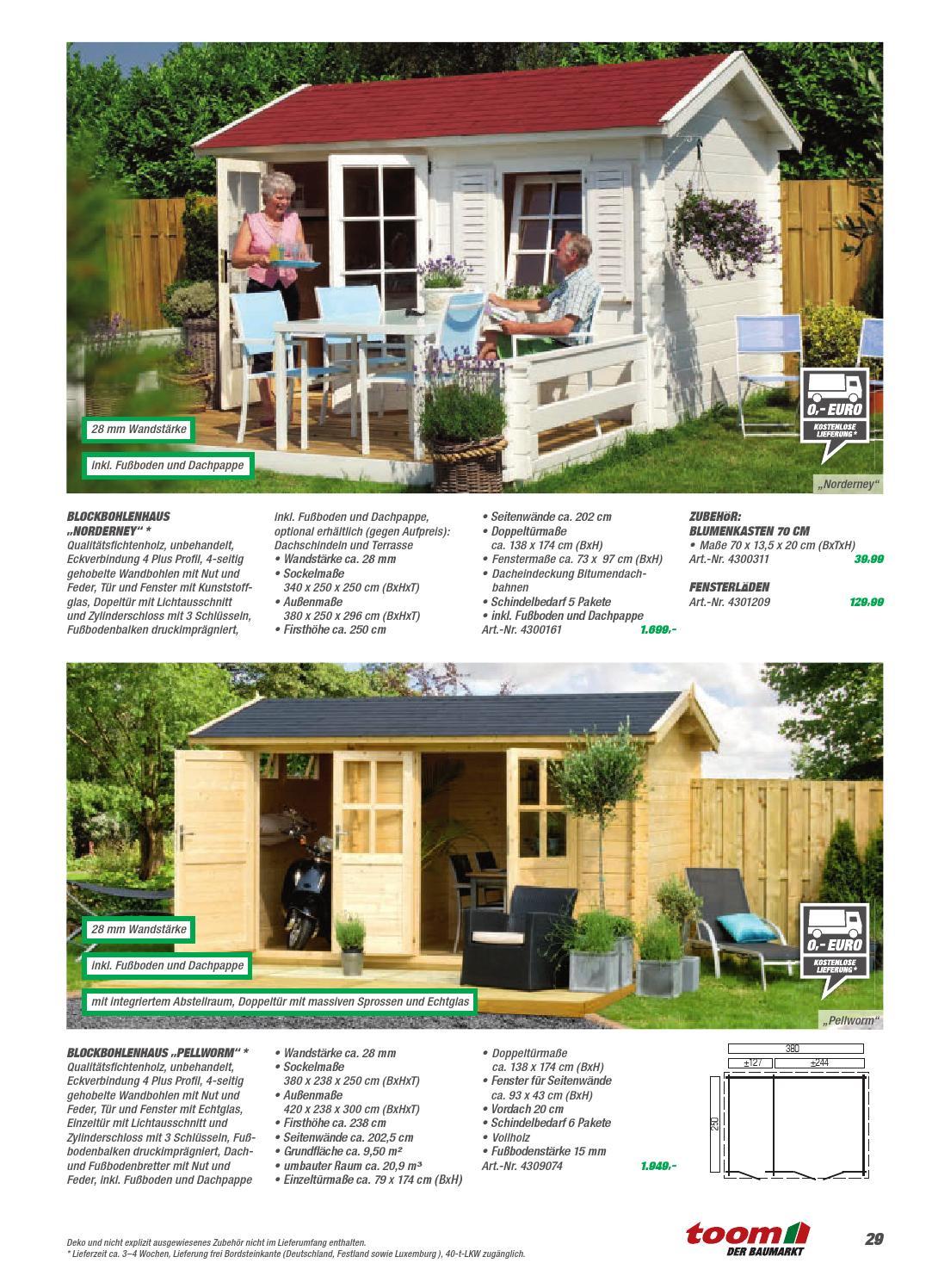 toom gartenhaeuser katalog 2014 gesamt 150dpi ohnebeschnitt by catalogofree issuu. Black Bedroom Furniture Sets. Home Design Ideas