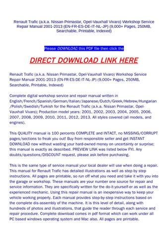 Great Schaltplan Nissan Interstar Zum Download Ideas - Simple Wiring ...