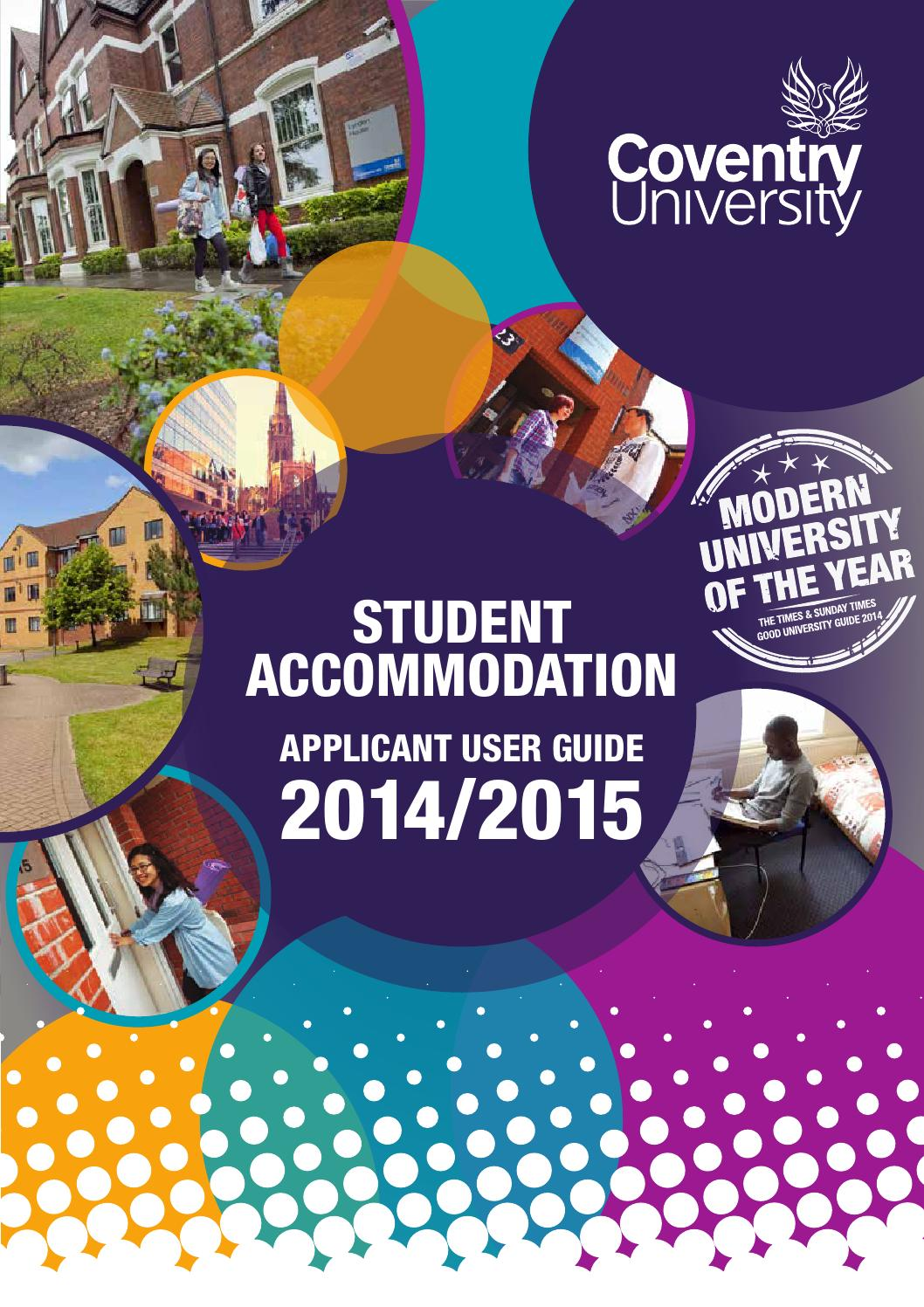 Coventry University Student Accommodation Applicant Guide