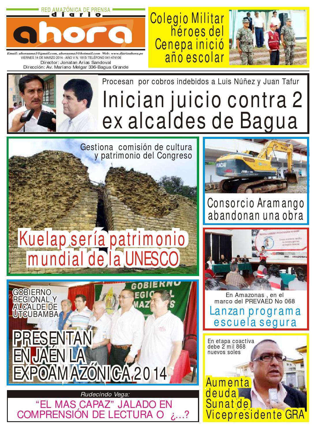 14 03 14 diario ahora amazonas by Jonatan Arias - issuu