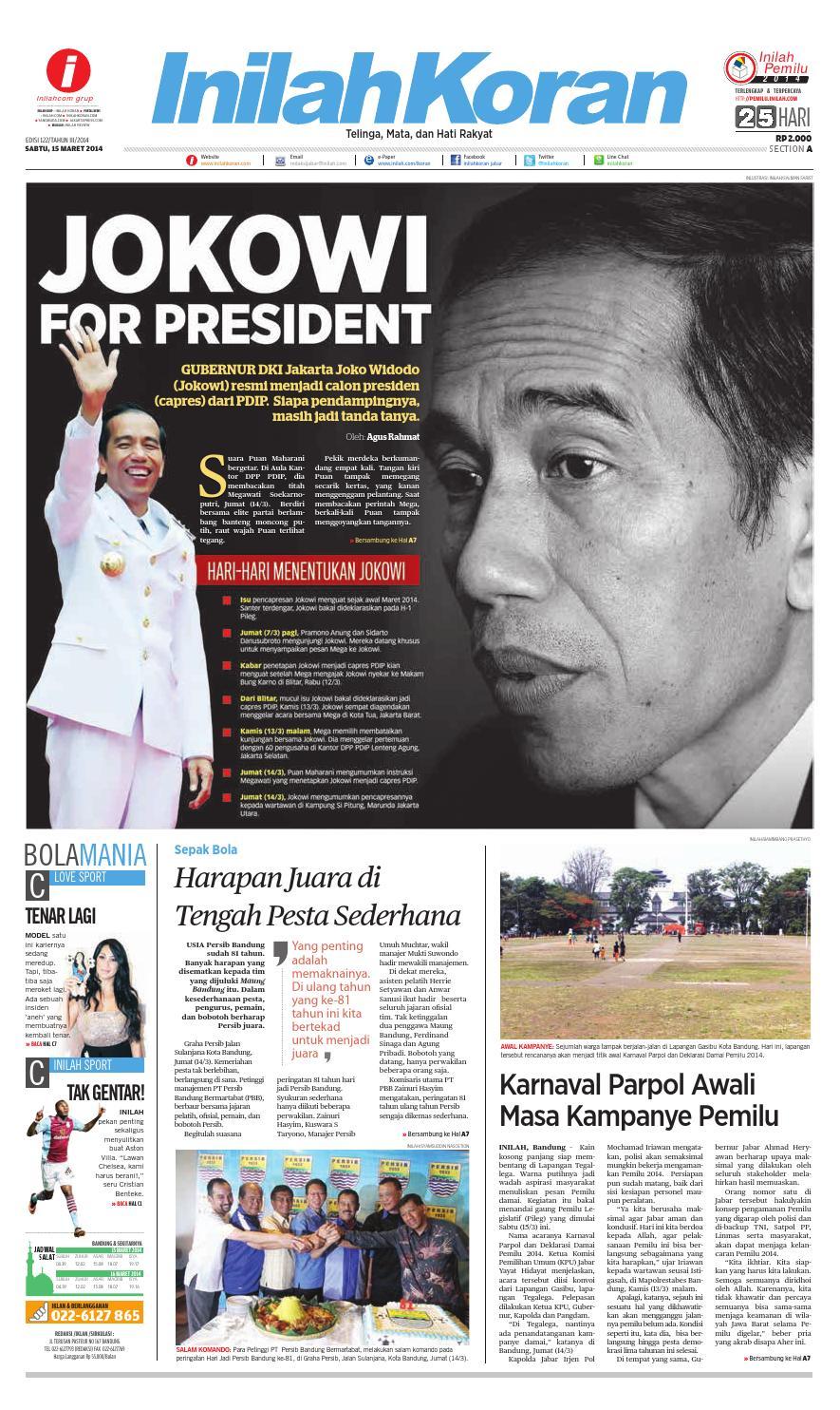Islah Dari Kemayoran By Inilah Koran Issuu Tas Import Anne Gratis Hijab Instan Najwa Aglrbo Cover Of Jokowi For President
