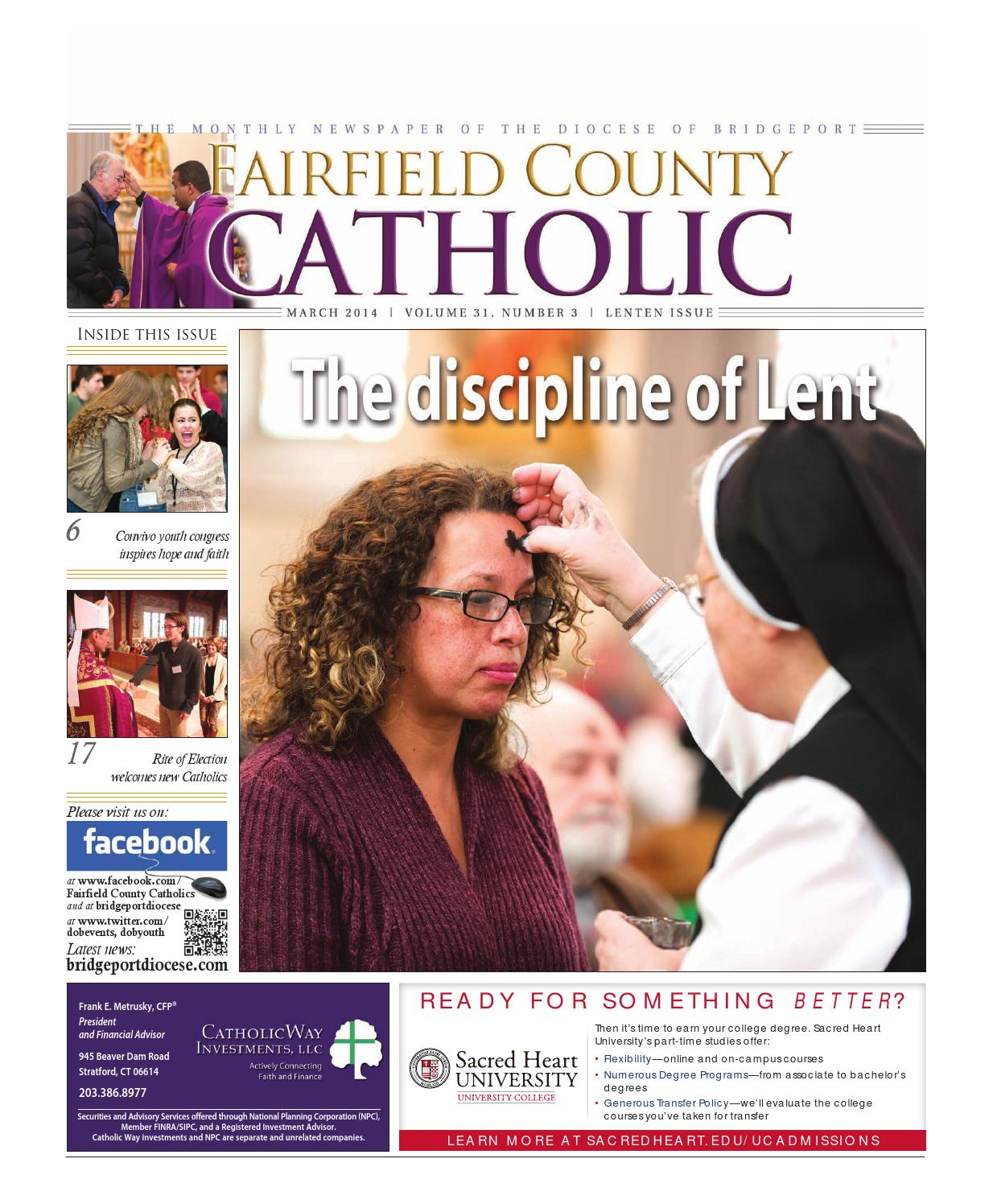 fairfield county catholic singles Please join the most reverend frank j caggiano and the board of catholic charities of fairfield county for a 100th anniversary celebratory mass & reception saturday, may 7 at 5:30pm mn.