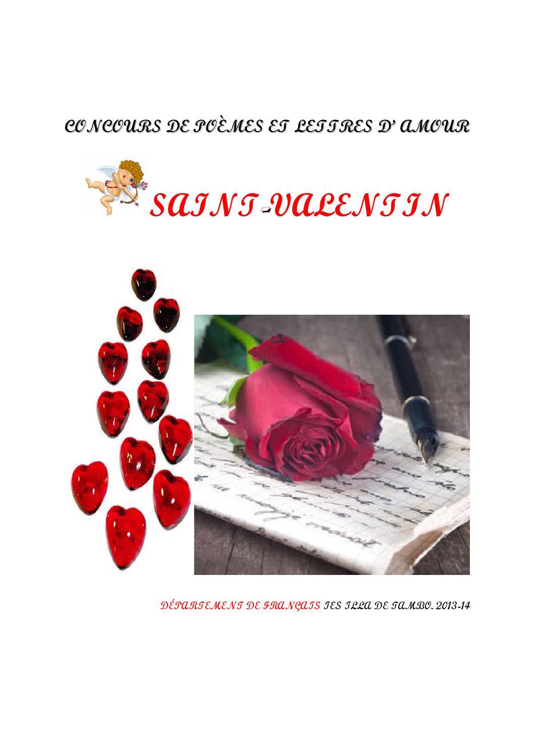 Poèmes Et Lettres Damour Concours Saint Valentin By Isabel