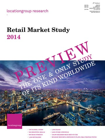 Retail Market Study 2014 Preview by M.C. Riebe issuu