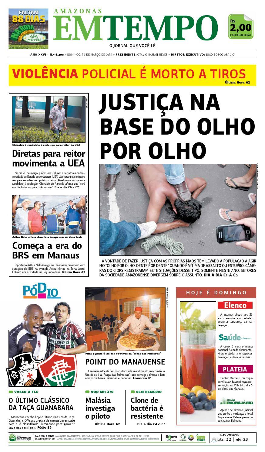 EM TEMPO - 16 de março de 2014 by Amazonas Em Tempo - issuu 904b99d0e3efa