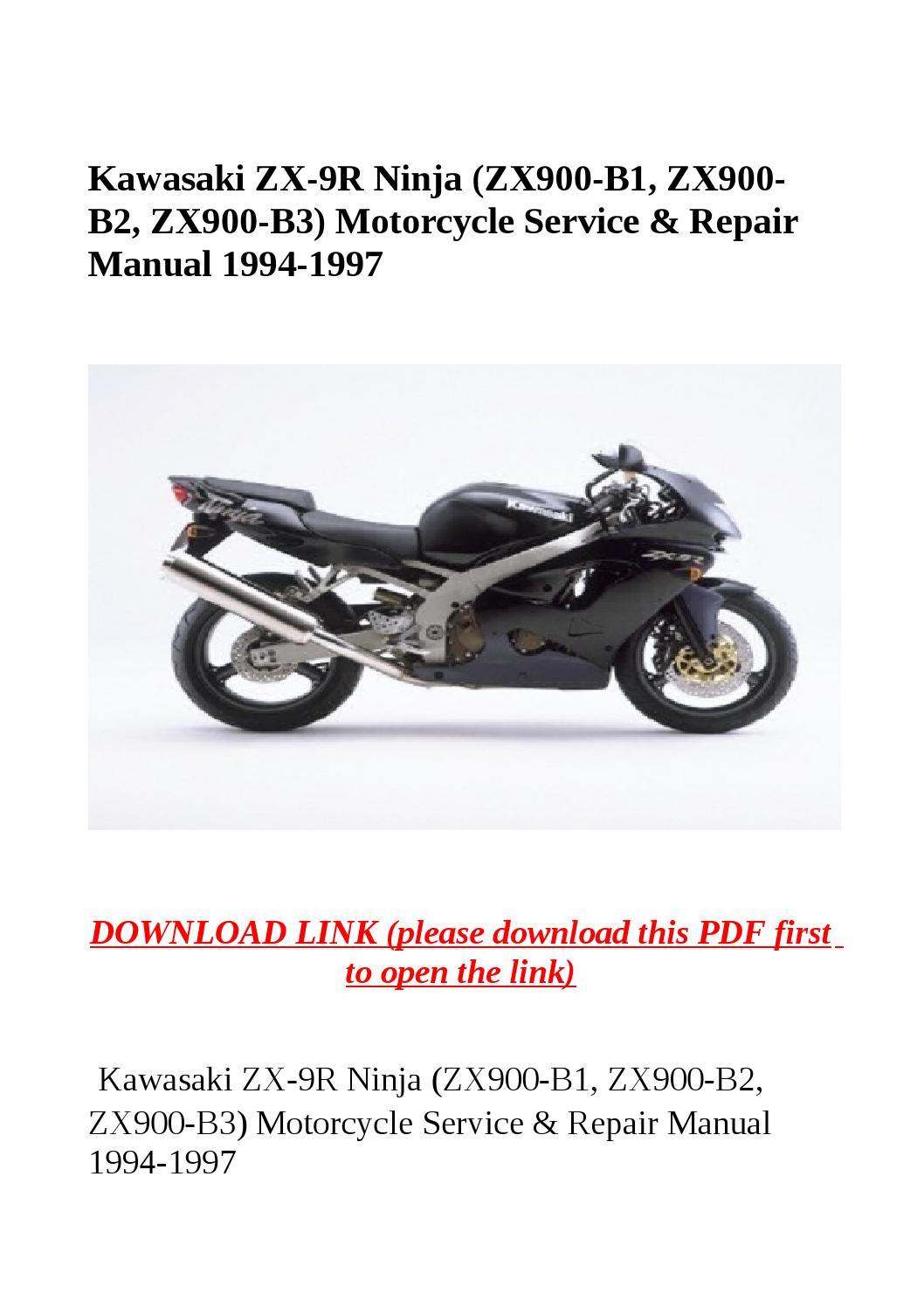 Kawasaki Zx9r 1994 1995 1996 1997 Service Repair Manual Auto Engine Diagram 1985 Ninja 900 Zx 9r Zx900 B1 B2 B3