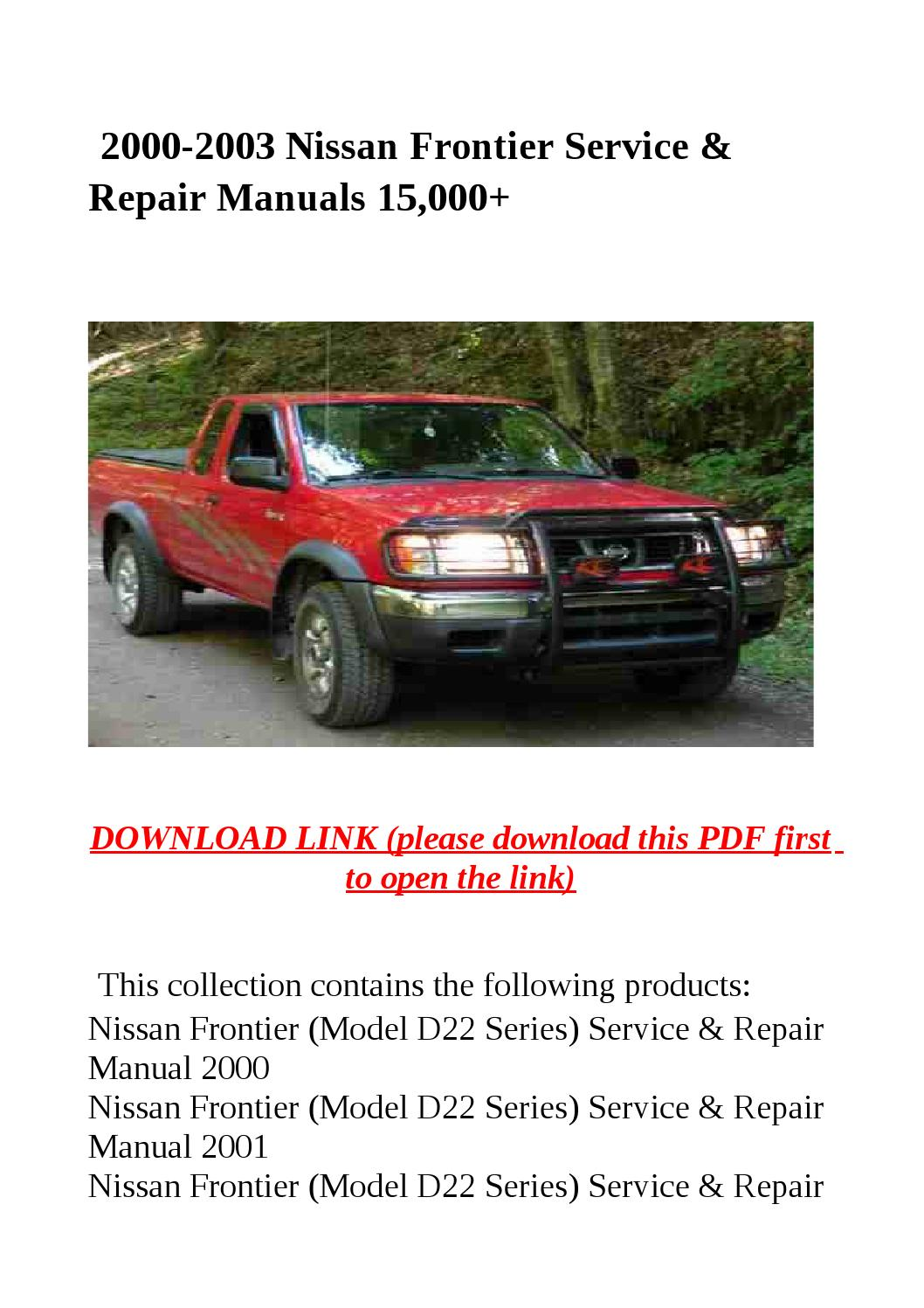 Nissan Frontier 2002 Owners Manual PDF