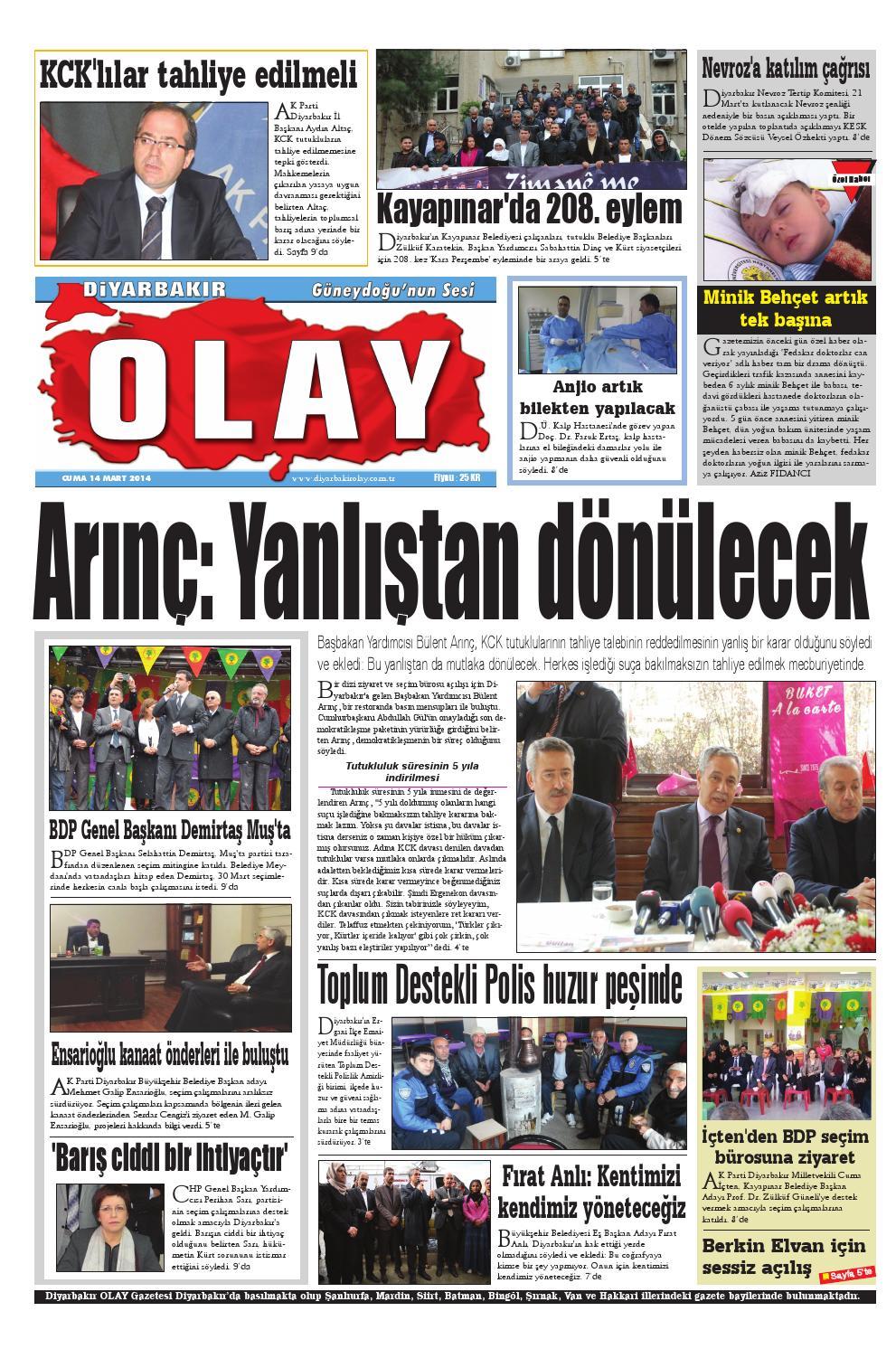 14 03 2014 Gazete Sayfalari By Diyarbakir Olaygazetesi Issuu