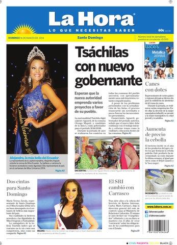 Santo Domingo 16 de marzo 2014 by Diario La Hora Ecuador - issuu 4746072435dd