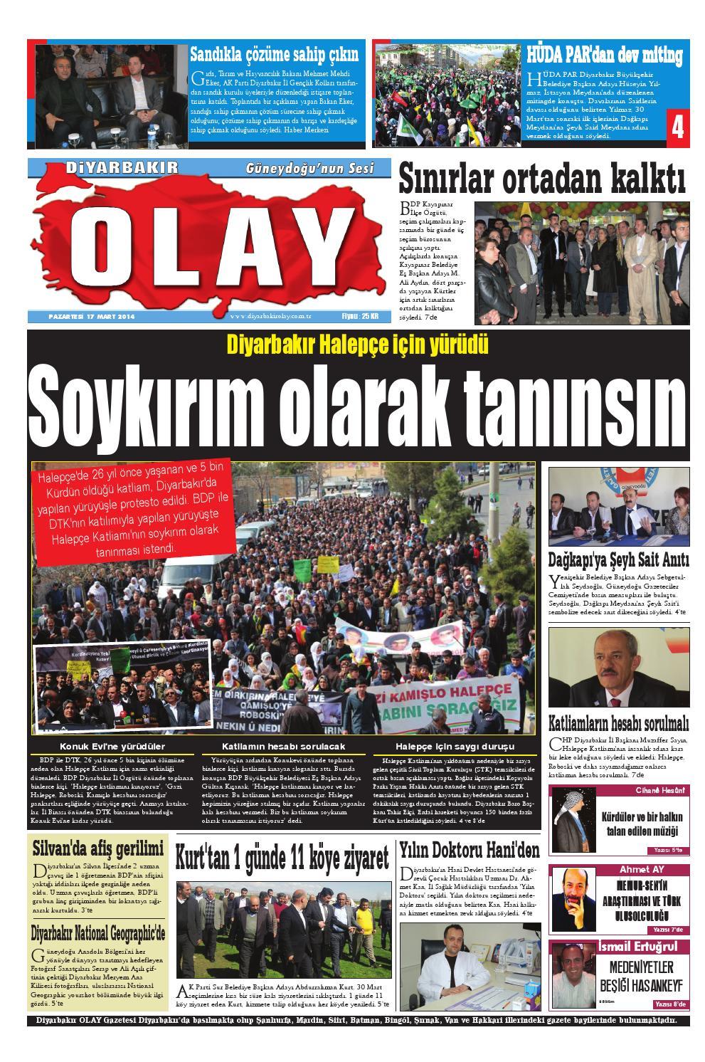 17 03 2014 Gazete Sayfalari By Diyarbakir Olaygazetesi Issuu