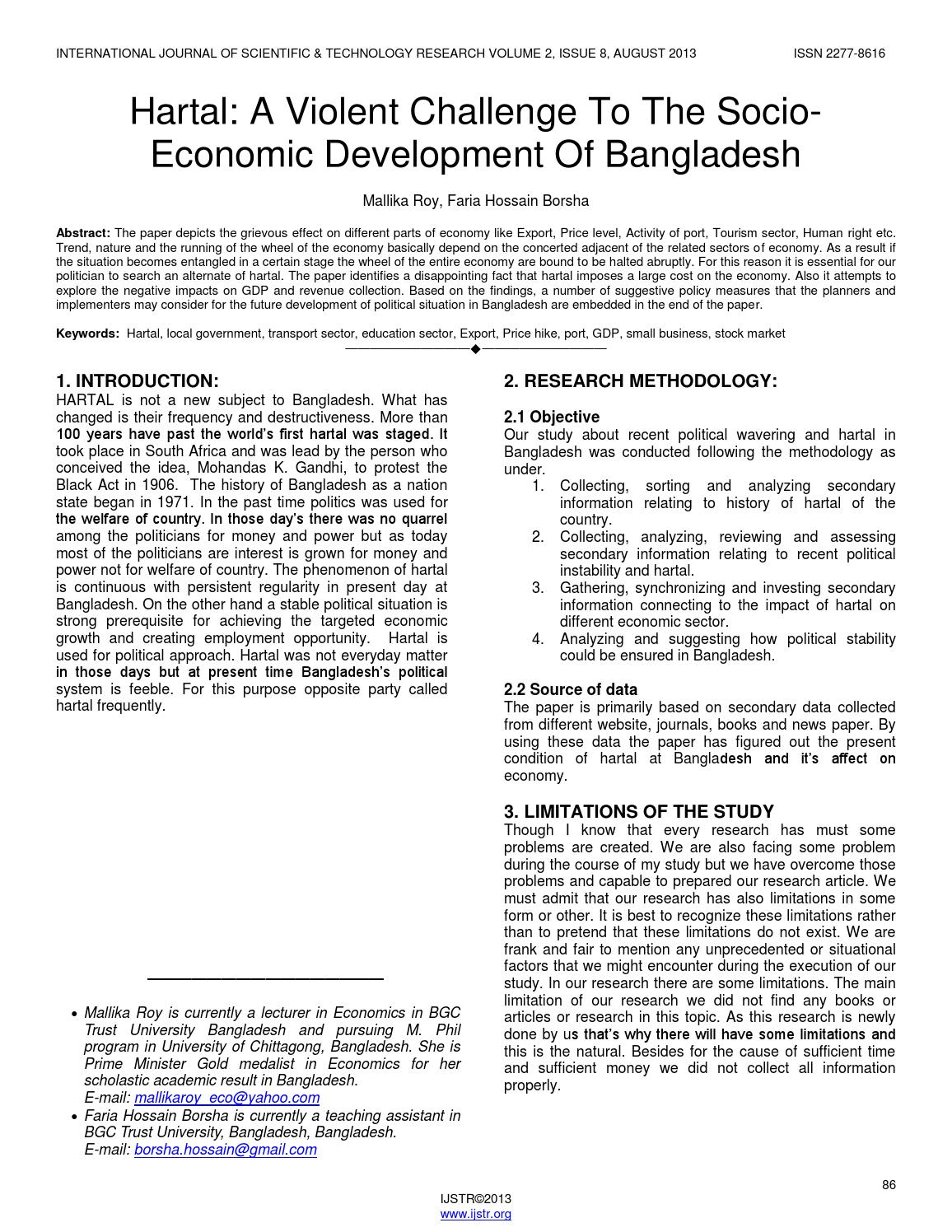 the economic costs of hartal in Letter of transmittal february 14, 2015 dr m m akash professor department of economics university of dhaka subject: submission of the report on 'the economic costs of hartal in bangladesh.