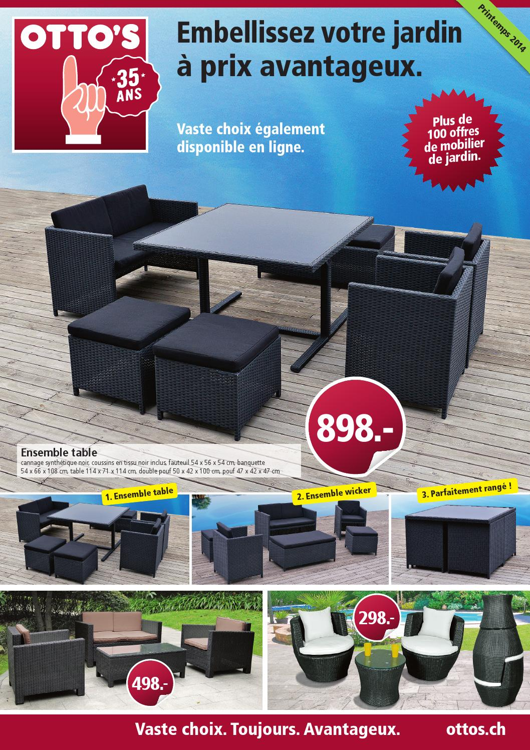 otto 39 s mobilier de jardin 2014 by otto 39 s ag issuu. Black Bedroom Furniture Sets. Home Design Ideas